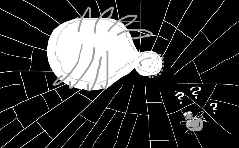 For the fear of spiders – what was it doing?